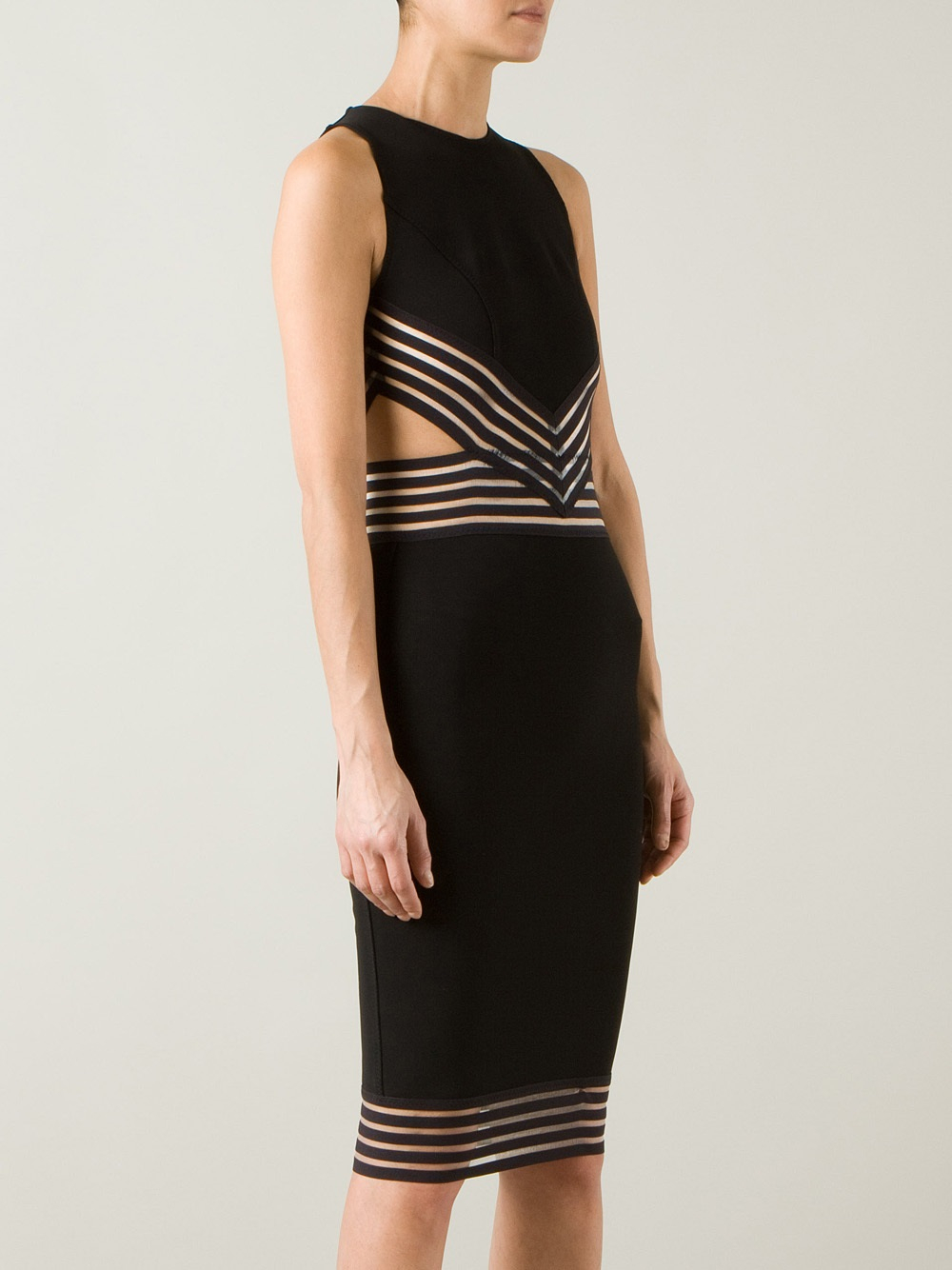 80873b9f5d Christopher Kane Cut Out Pencil Dress in Black - Lyst
