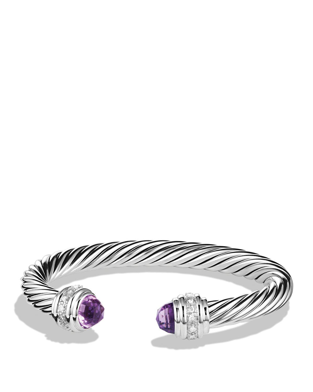 Lyst David Yurman Cable Classics Bracelet With Amethyst