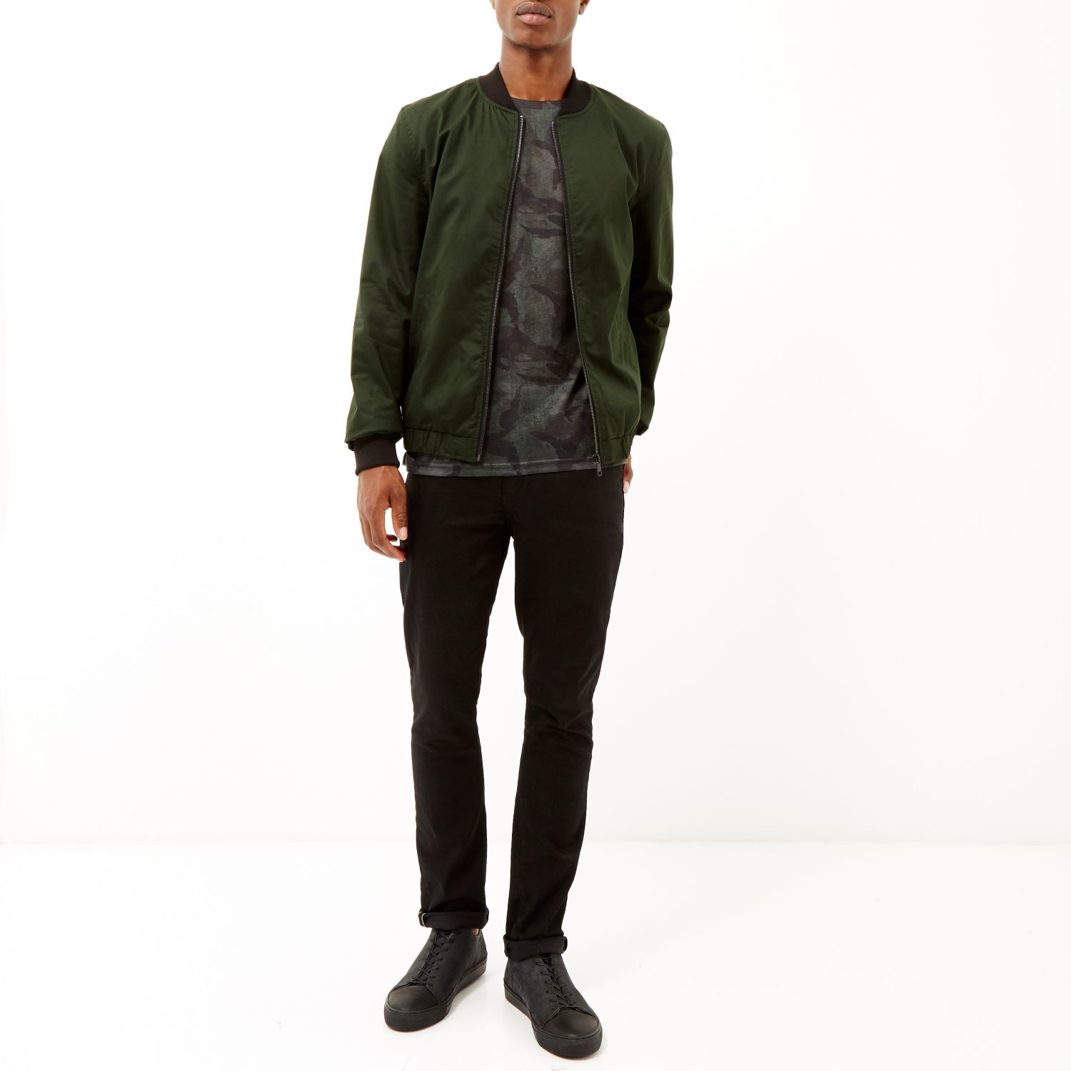 Dark Green Bomber Jacket | Outdoor Jacket