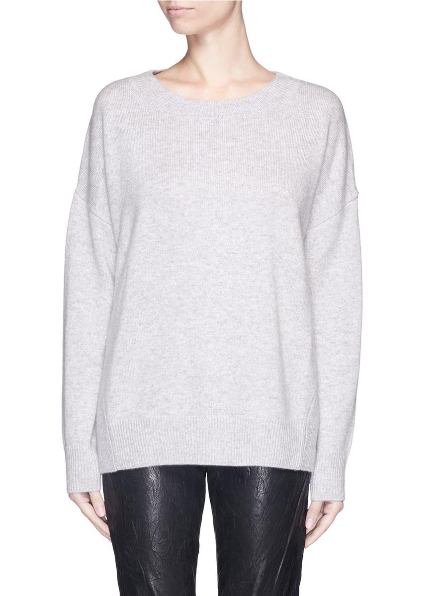 0c06e3fe1cb3 Lyst - FRAME  le Boyfriend  Cashmere Sweater in Gray