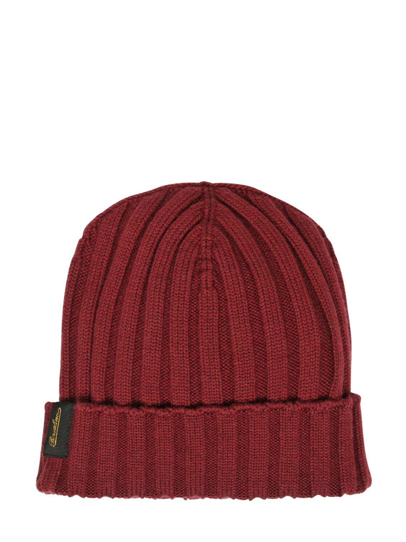 Lyst Borsalino Extra Fine Merino Wool Knit Beanie Hat In