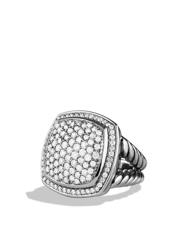 david yurman albion ring with diamonds in metallic lyst