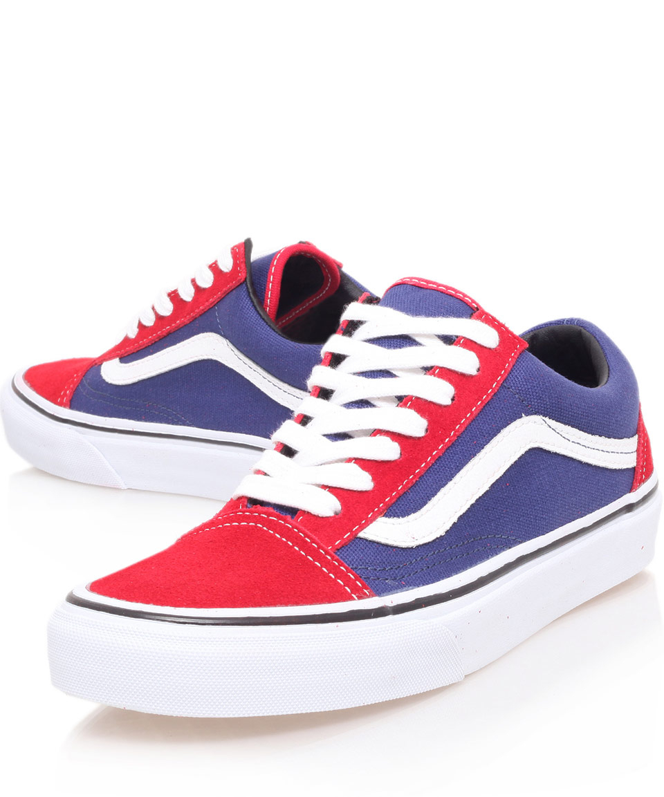 2a1e64cb5553f9 Lyst - Vans Red and Purple Old Skool Trainers in Red for Men