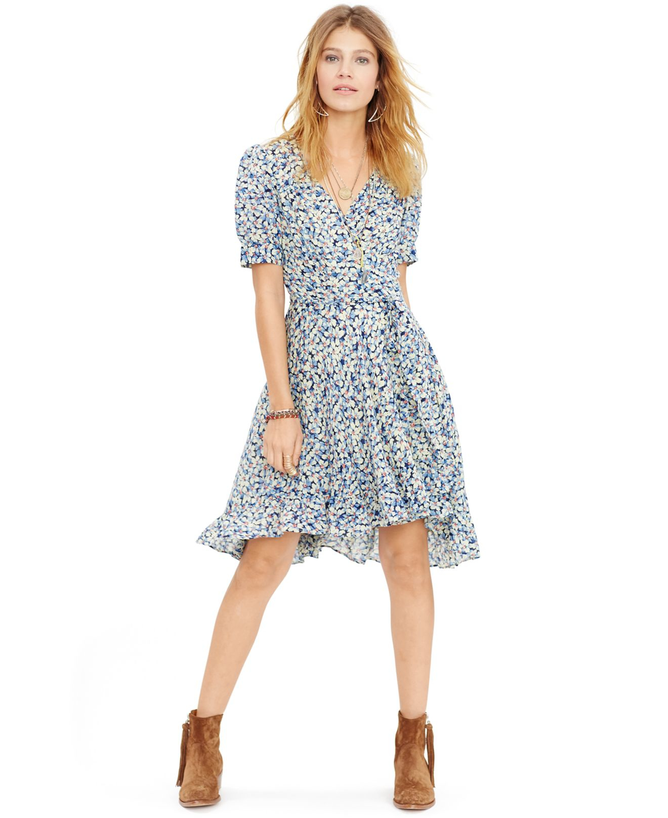 9fd2fedc59db2 Ralph Lauren Denim And Supply Black Floral Wrap Maxi Dress - Gomes ...