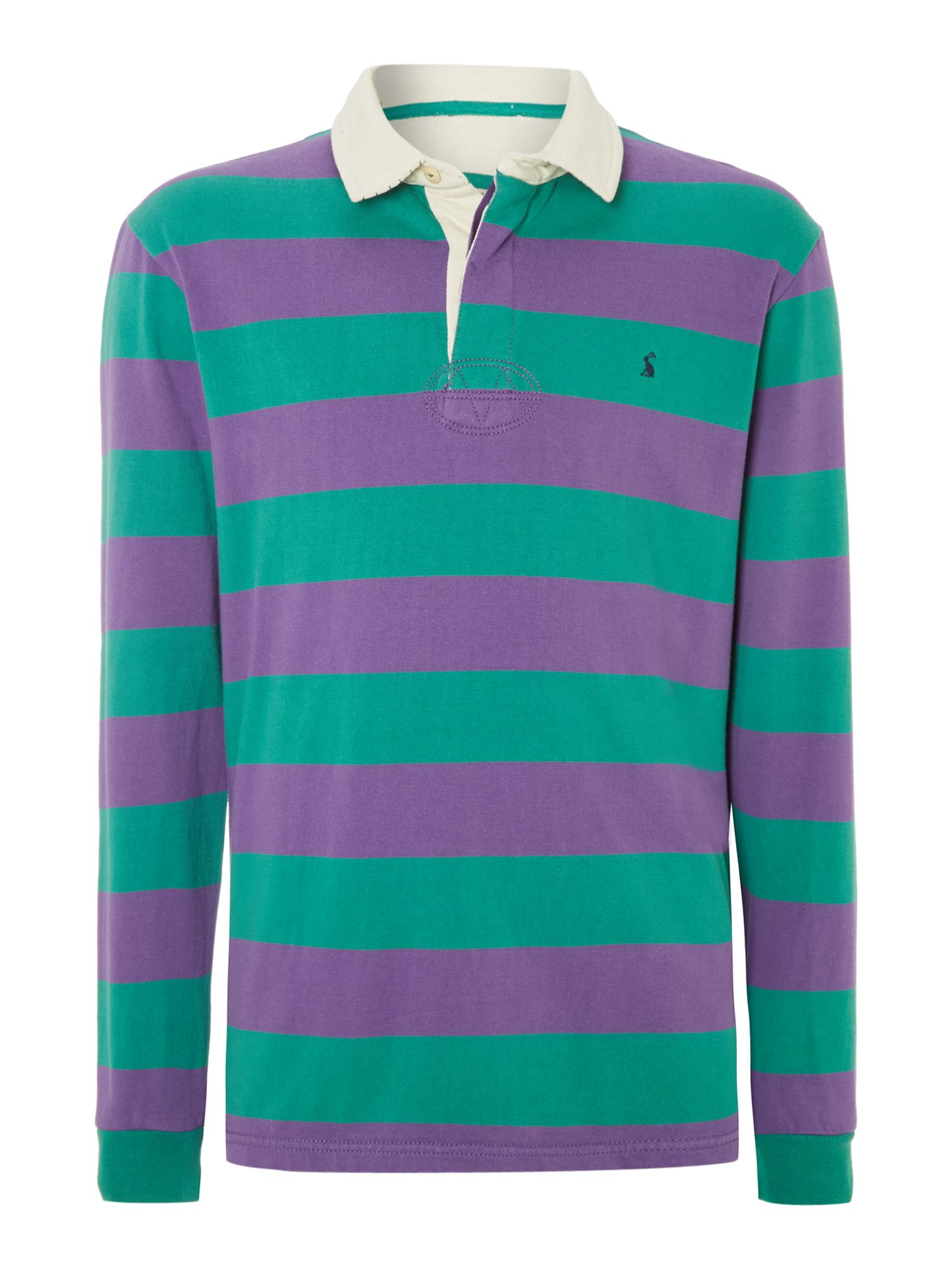 Joules Stripe Rugby Shirt In Green For Men Dark Purple Lyst