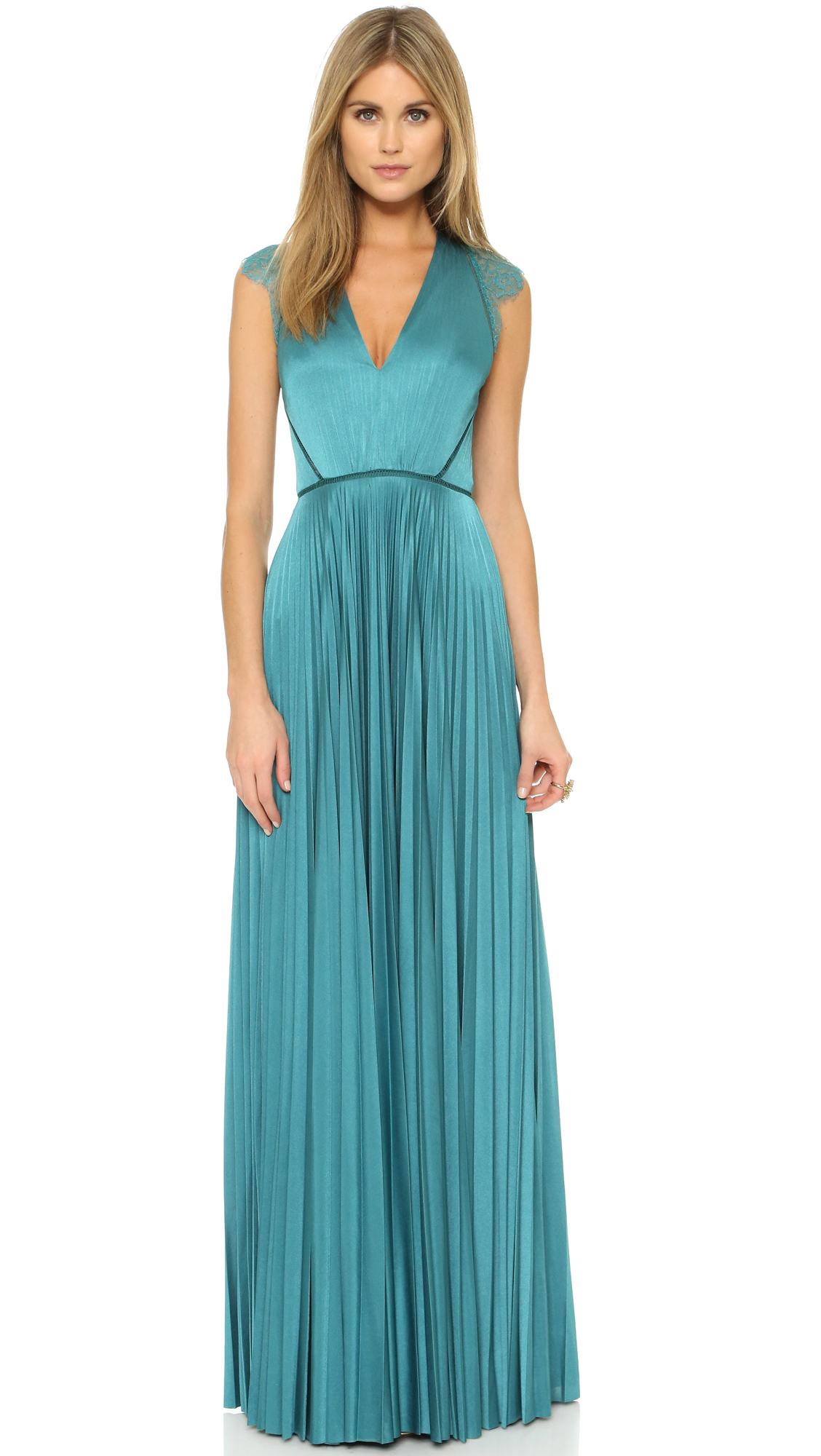 Lyst - Catherine Deane Elouise Sunray Pleated Gown in Blue