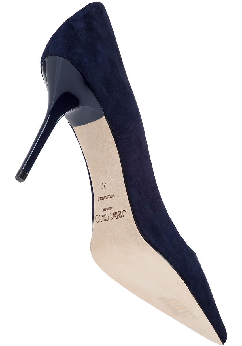 8401e1984a9a Lyst - Jimmy Choo Agnes Pump Navy Suede in Blue