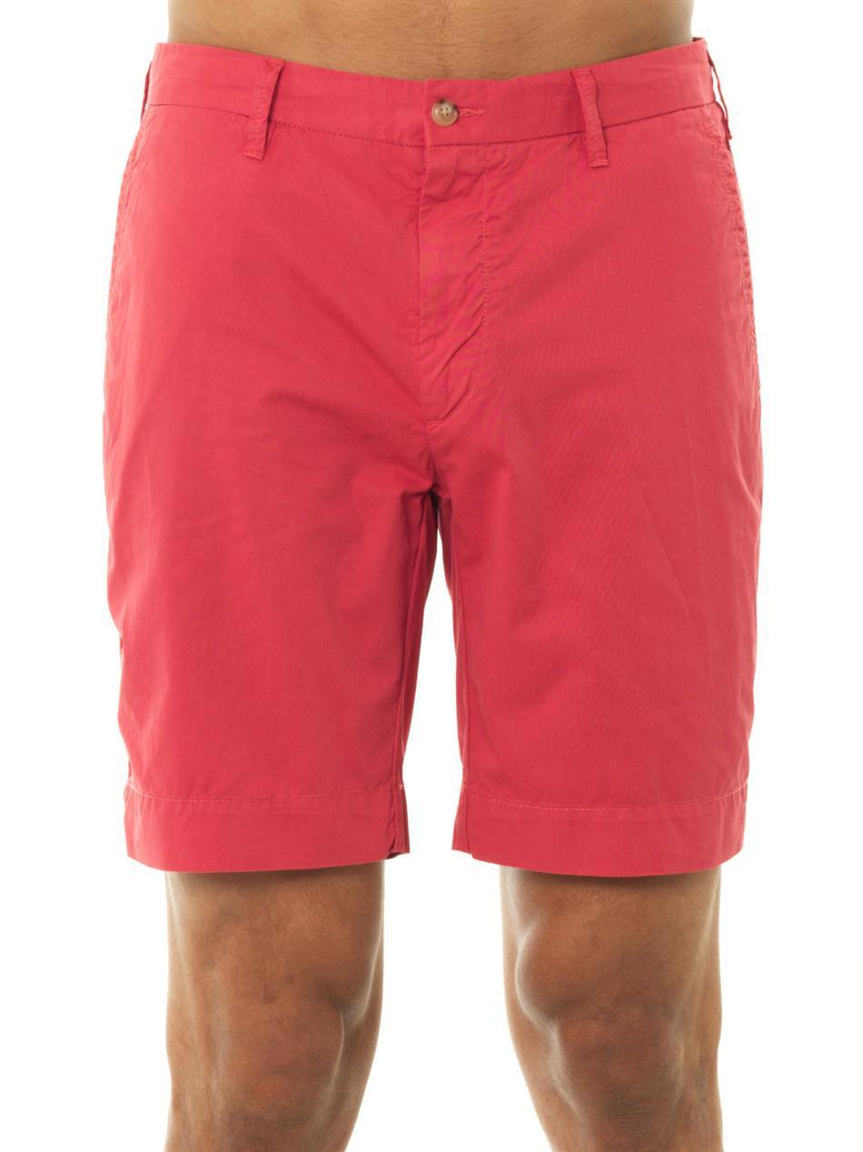 Polo ralph lauren Slimfit Newport Cotton Shorts in Red for Men | Lyst