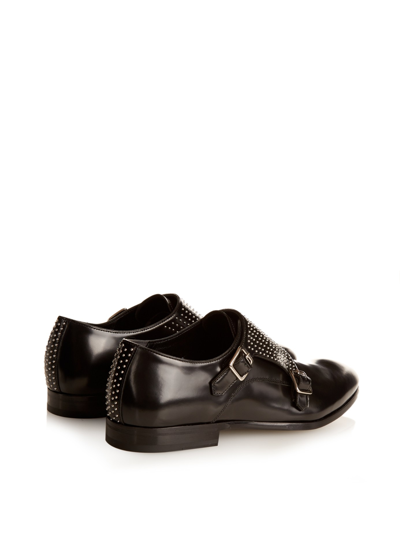 Monk-strap leather derby shoes Alexander McQueen wME8lgY