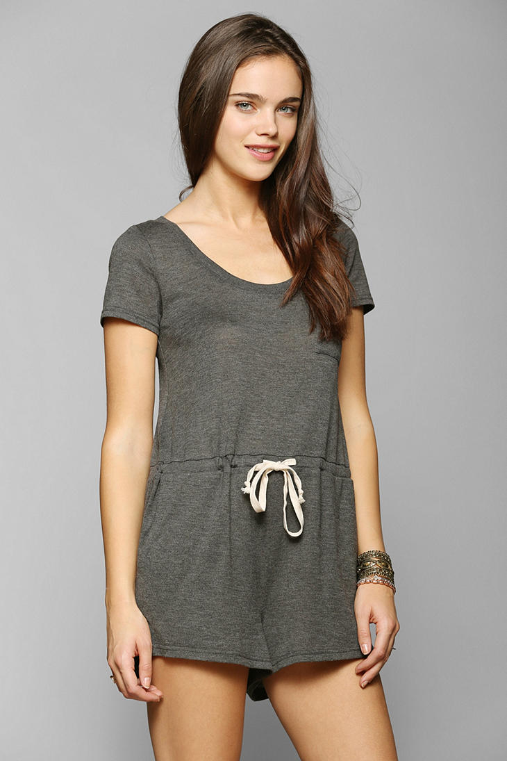 31288351f1f Lyst - Urban Outfitters Bdg Jersey Tee Shirt Romper in Gray