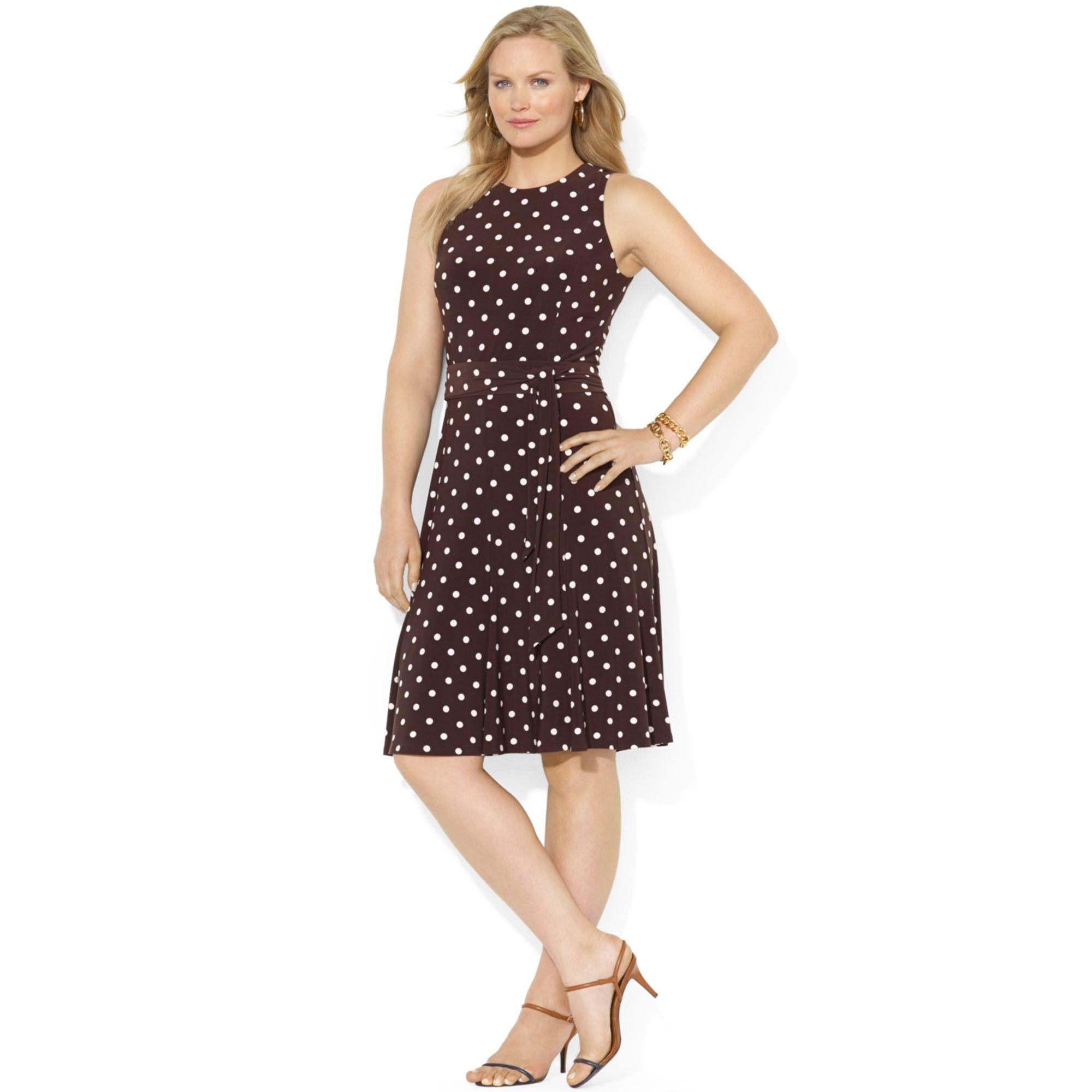 Lyst Lauren By Ralph Lauren Lauren By Ralph Lauren Plus Size Dress