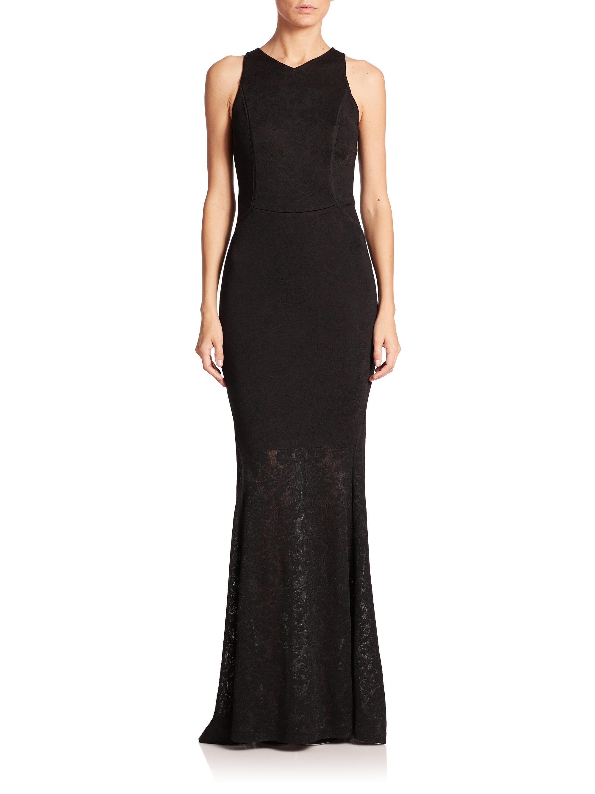 aca0e253e024 Lyst - St. John Jacquard Knit Gown in Black