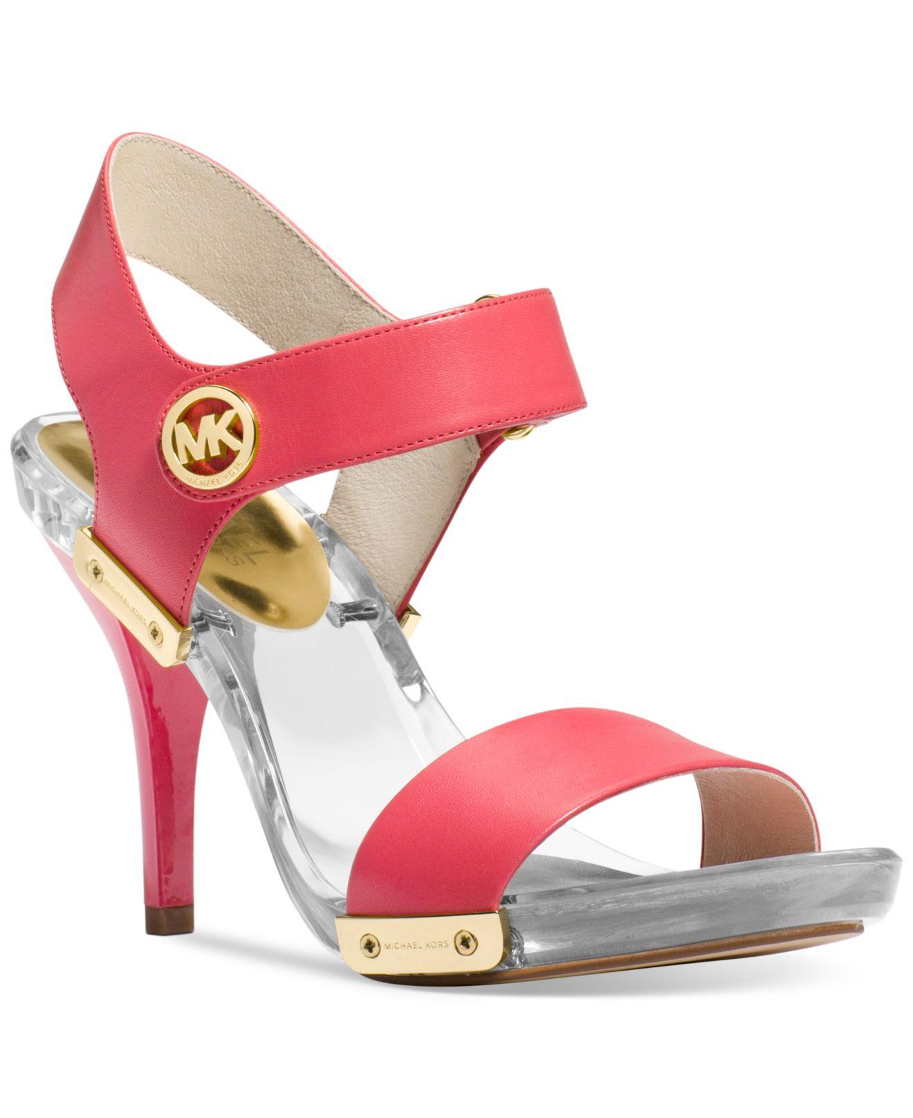 0c0da1acb4cf ... Macys Lyst - Michael Kors Michael Lani Platform Sandals in Pink ...