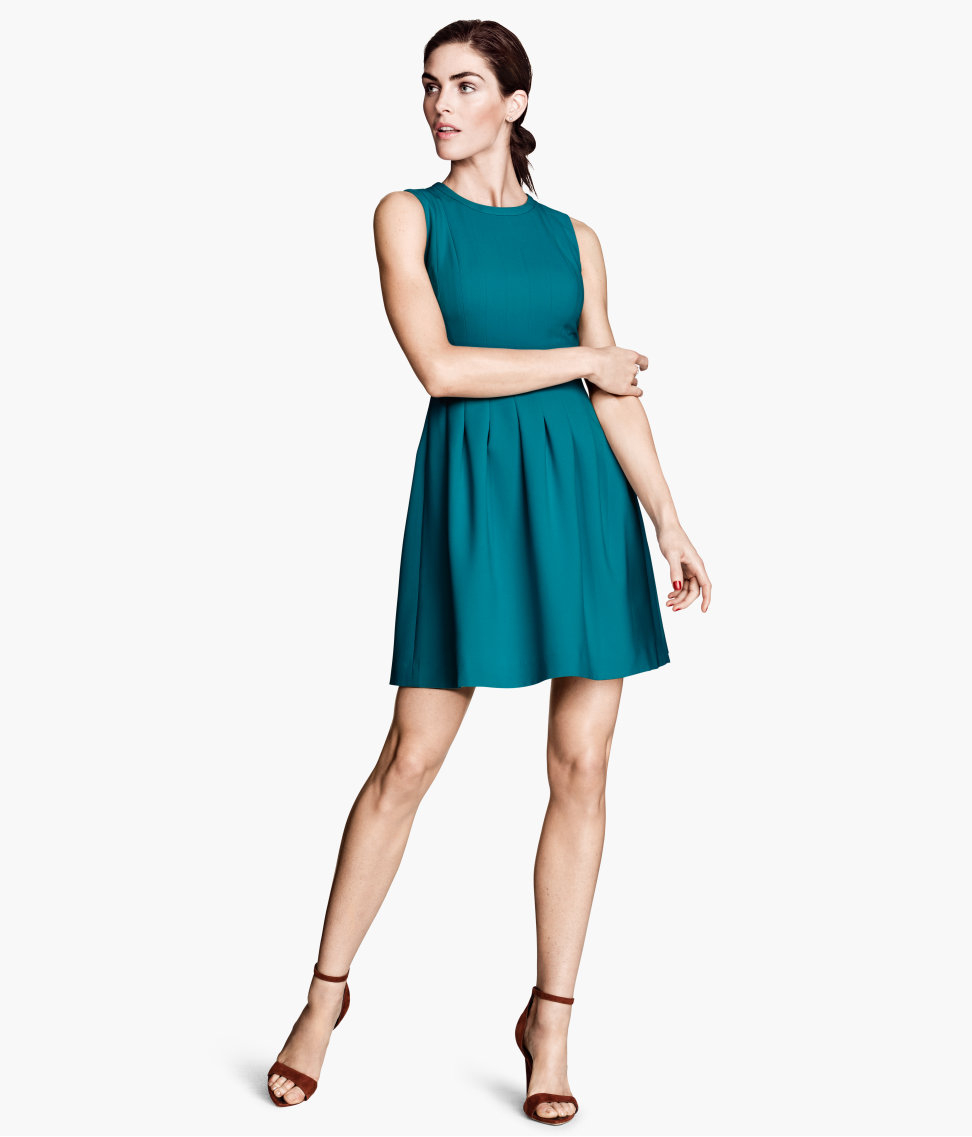 Lyst - H&M Sleeveless Dress in Blue