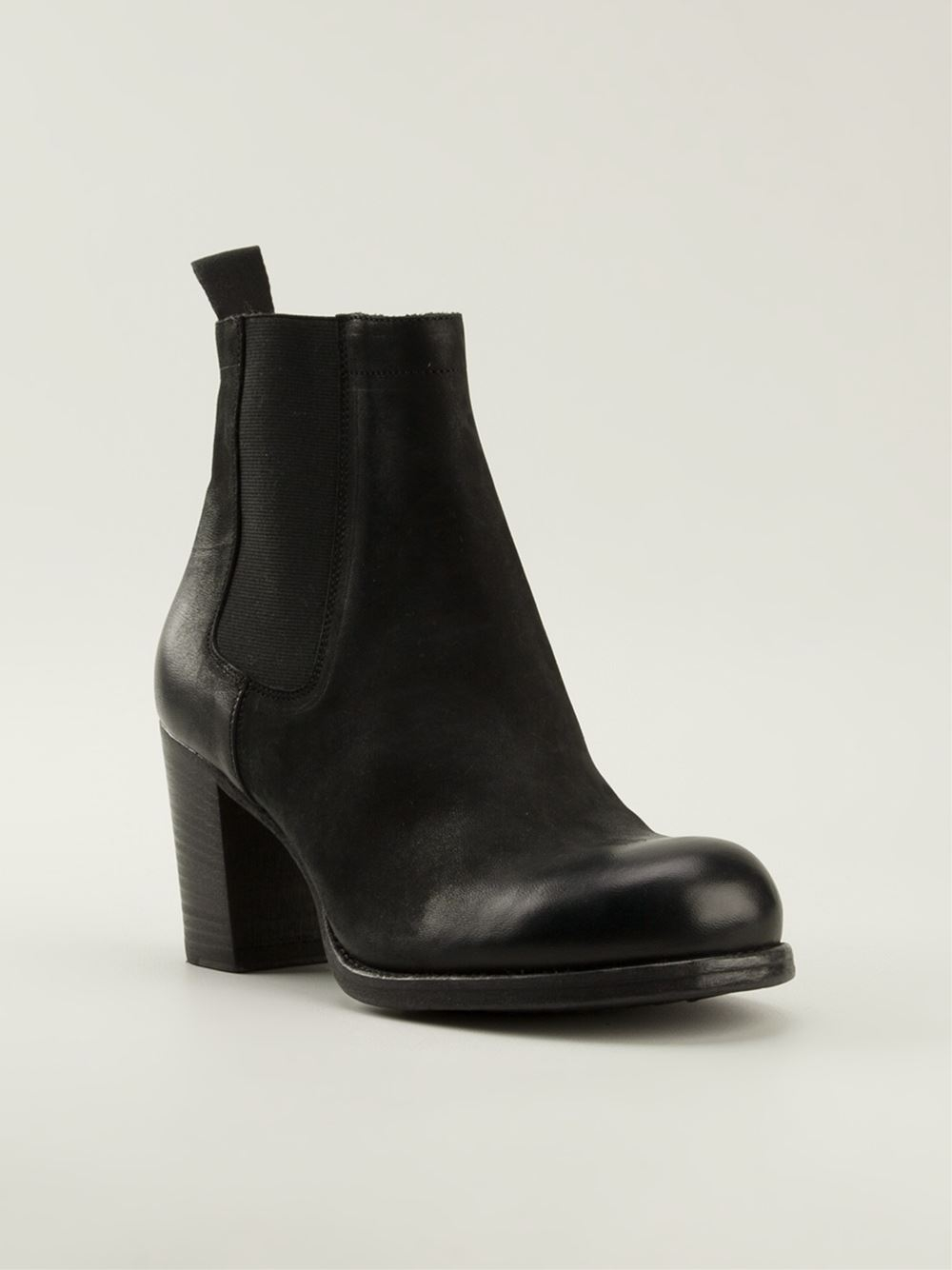 Pantanetti Chunky Heel Chelsea Boots in Black | Lyst