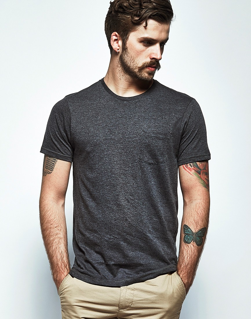 The idle man Pocket T-shirt Dark Grey in Gray for Men | Lyst
