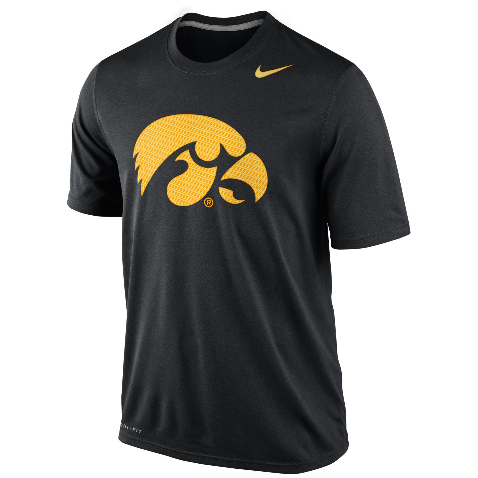 Lyst nike iowa hawkeyes drifit hyper legend t shirt in for Iowa hawkeye t shirt