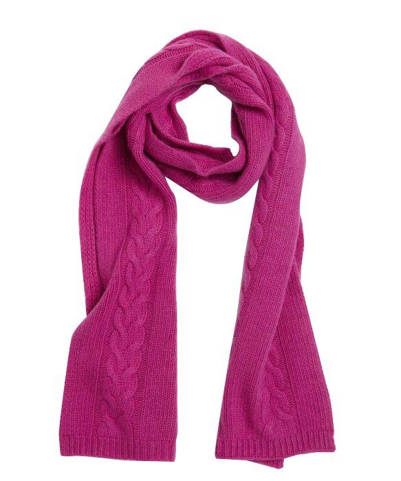 portolano berry cable knit scarf in purple lyst