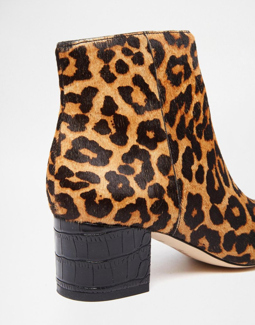 5179e5eda9b0c Sam Edelman Edith Animal Pony Effect Heeled Ankle Boots - Lyst