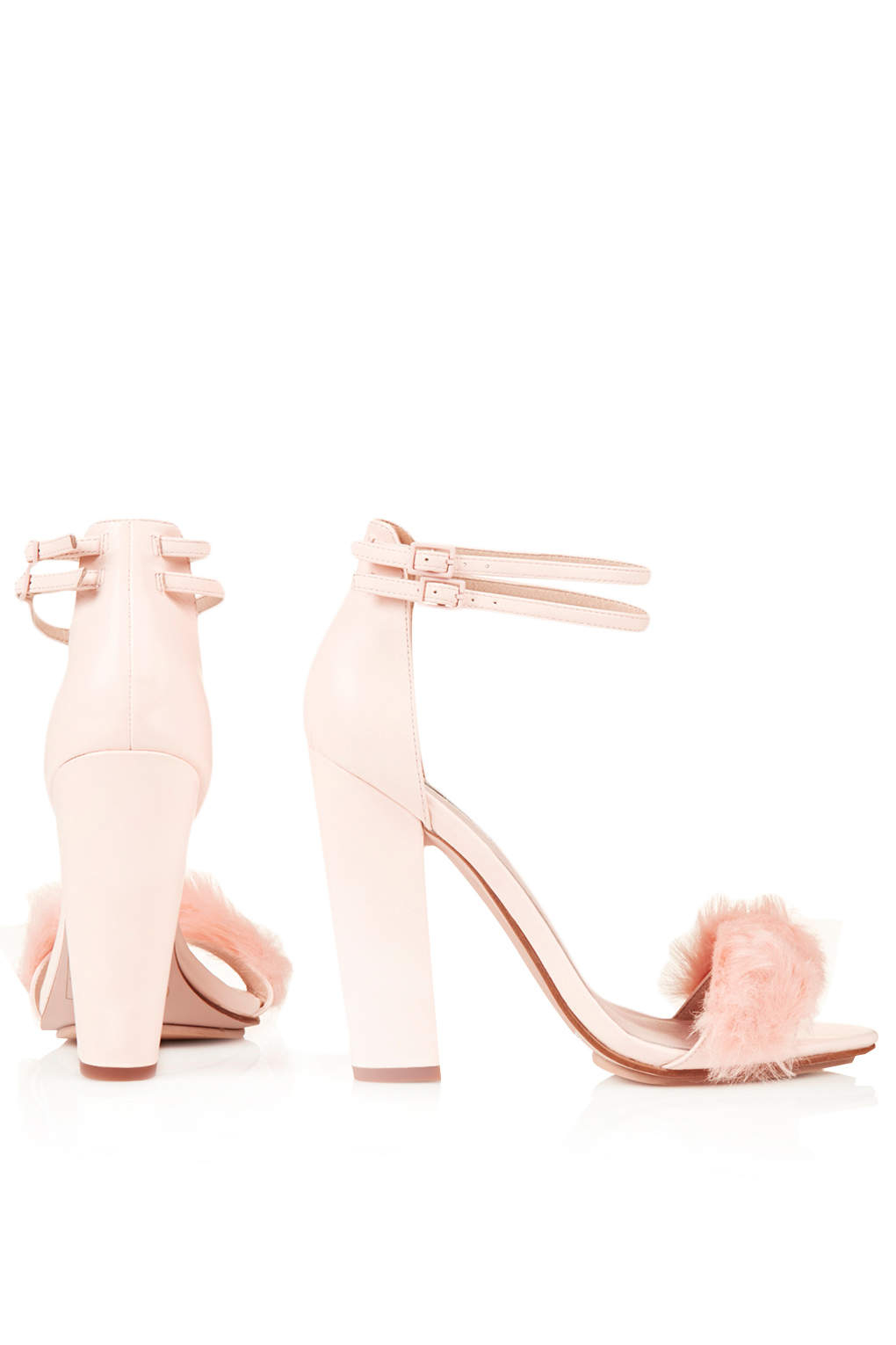 521c8093566f Lyst - TOPSHOP Rabbit Faux-Fur Fluffy Sandals in Pink