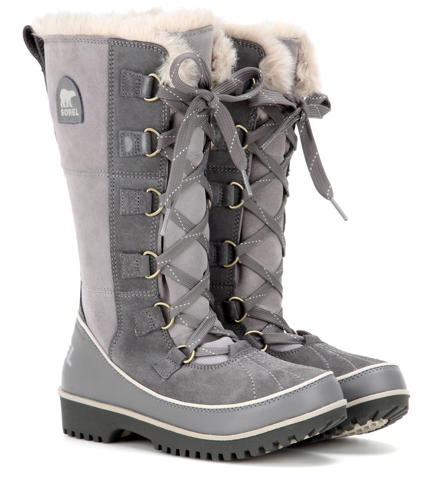 Sorel Tivoli High Ii Suede Boots In Grey Gray Lyst