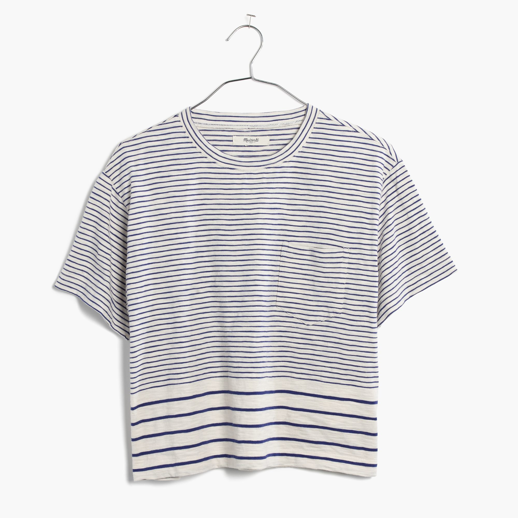 486b4a4b Madewell Striped Pocket Tee in Gray - Lyst