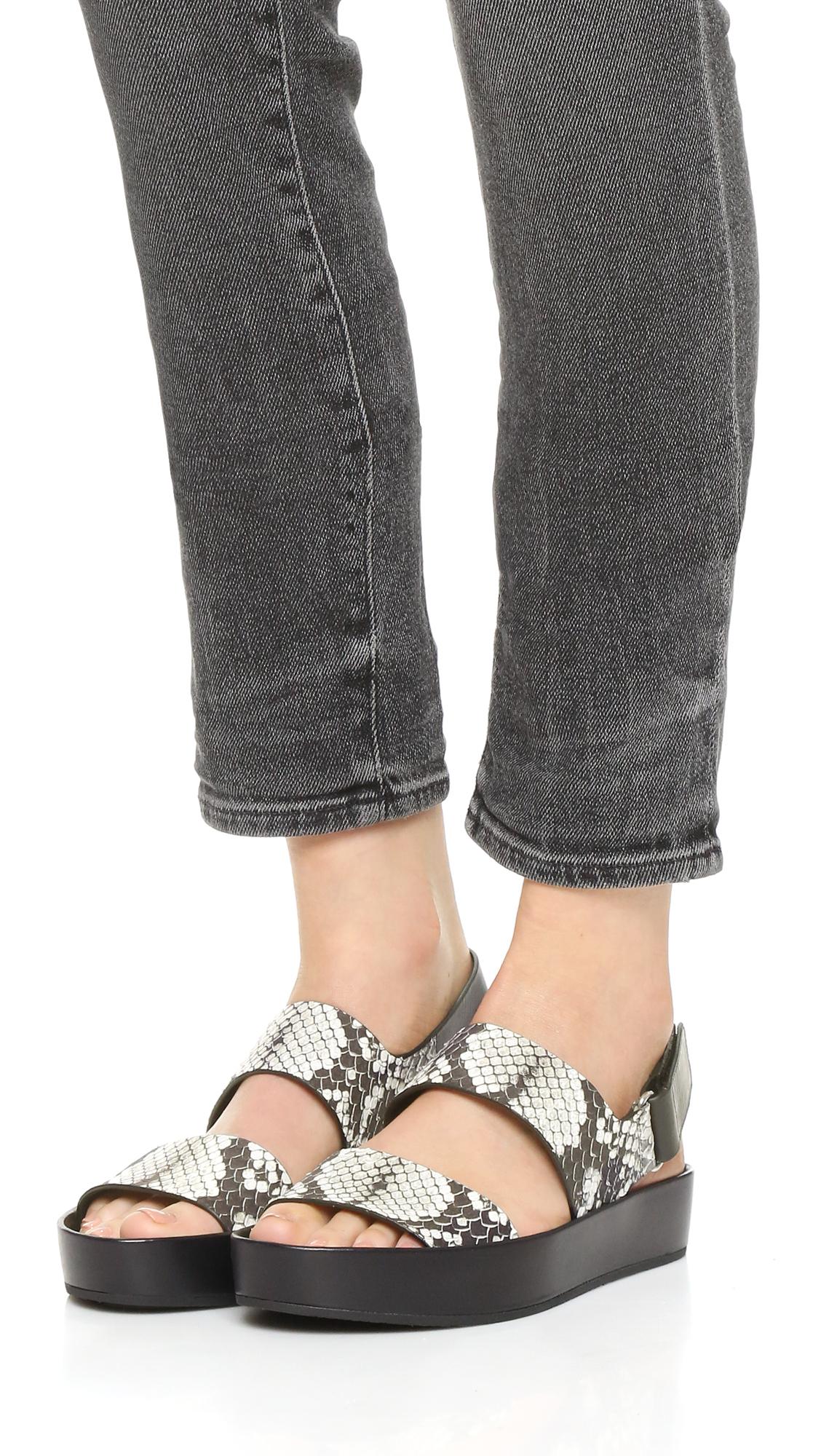 c25fcd73322 Lyst - Vince Marett Flatform Sandals in Black