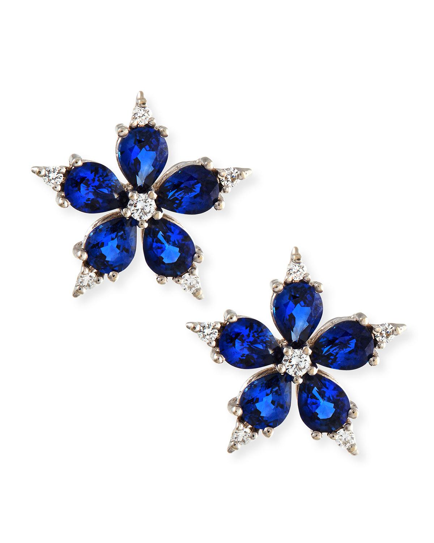 paul morelli small stellanise blue sapphire diamond stud. Black Bedroom Furniture Sets. Home Design Ideas