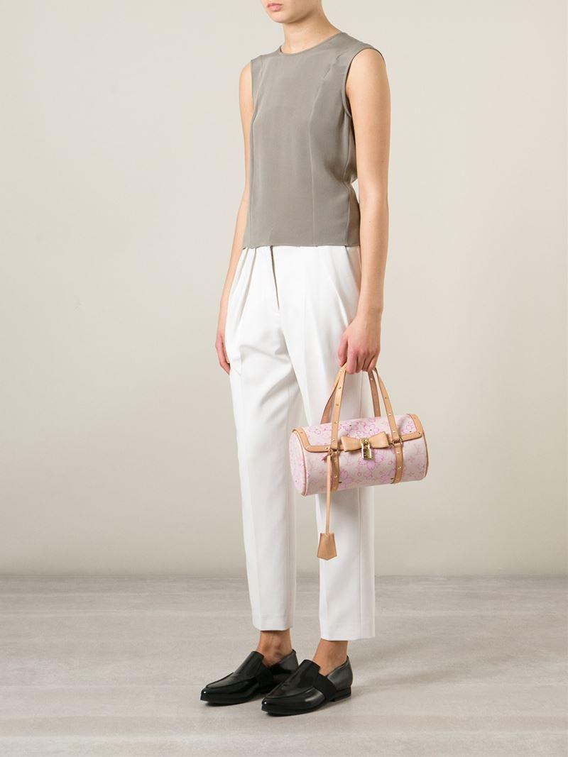 efcafa100dc5 Lyst - Louis Vuitton Louis Vuitton X Takashi Murakami  cherry Blossom  Monogram Papillon  Tote in Pink