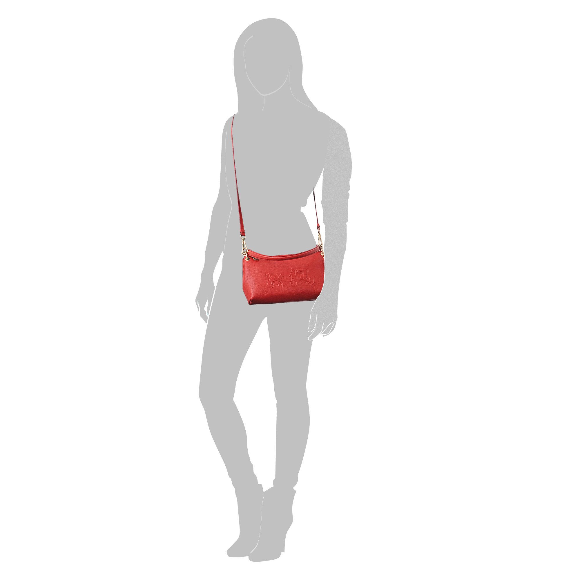 ae9c288c77b6 Lyst - COACH Mini Charley Crossbody Bag in Red