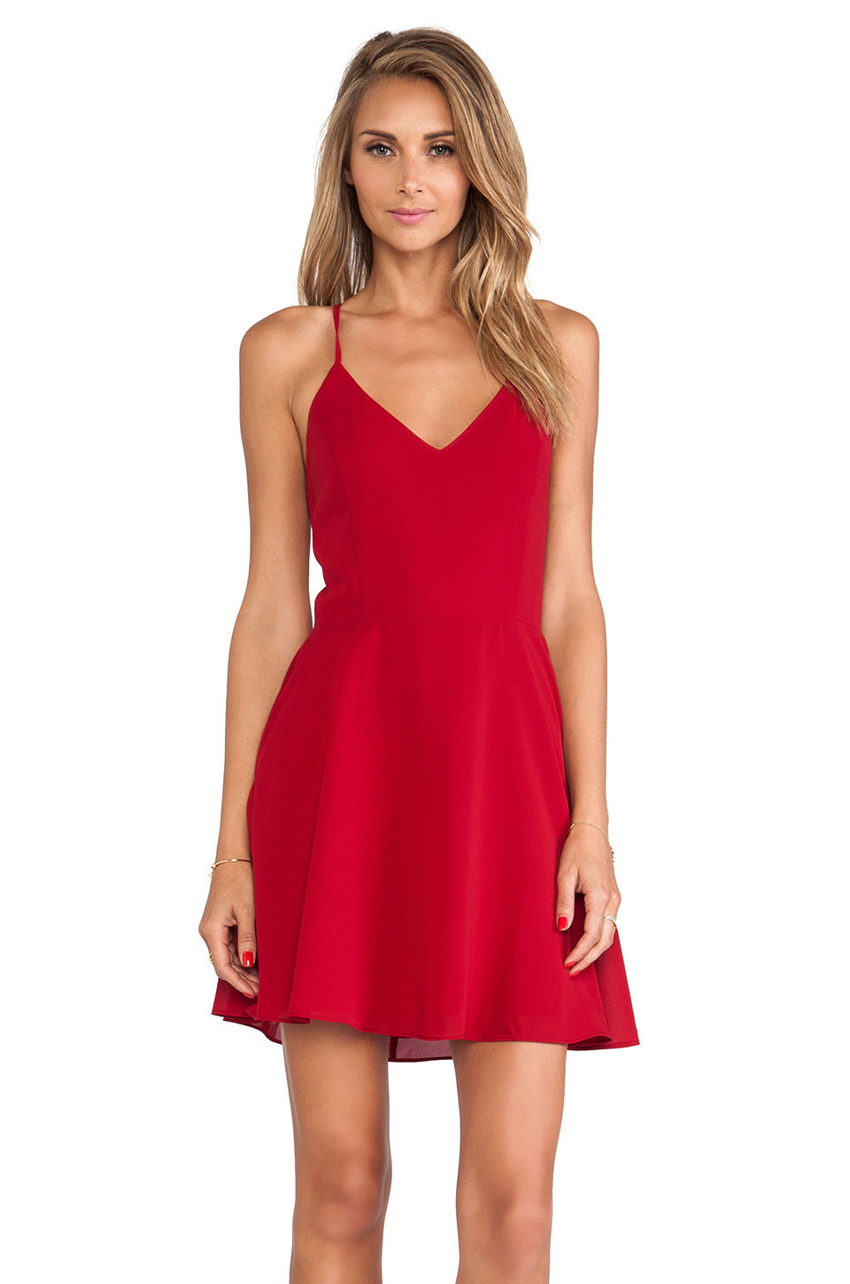 Lyst Line Amp Dot Blonde Ambition Mini Dress In Red