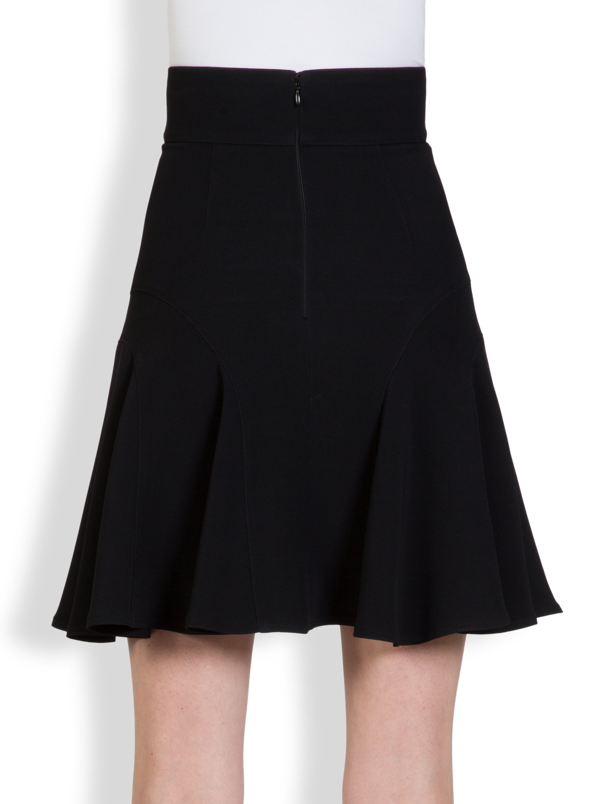 givenchy crepe tulip skirt in black lyst
