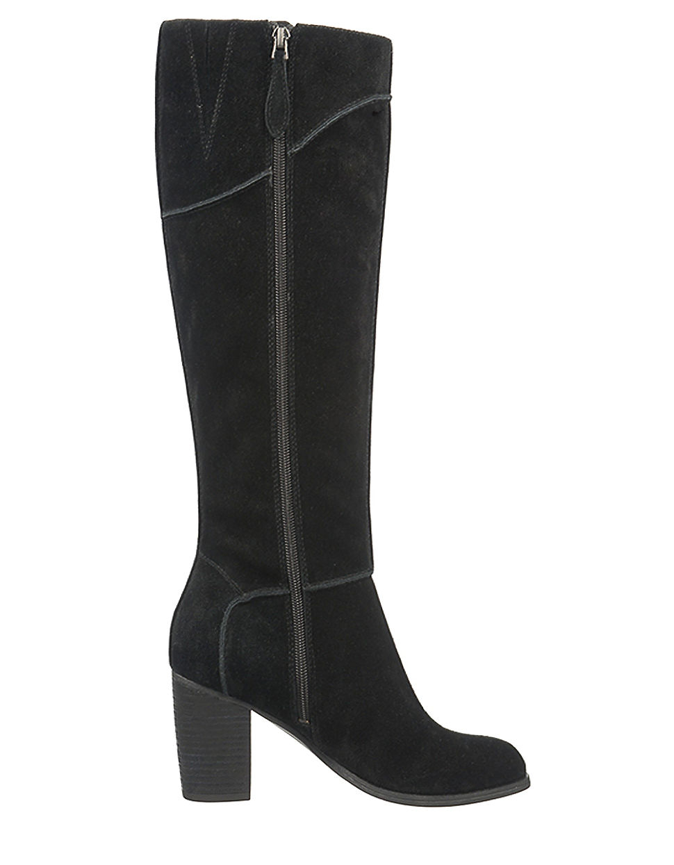Franco sarto yamka leather tall boots in black lyst for Franco sarto motor over the knee boots