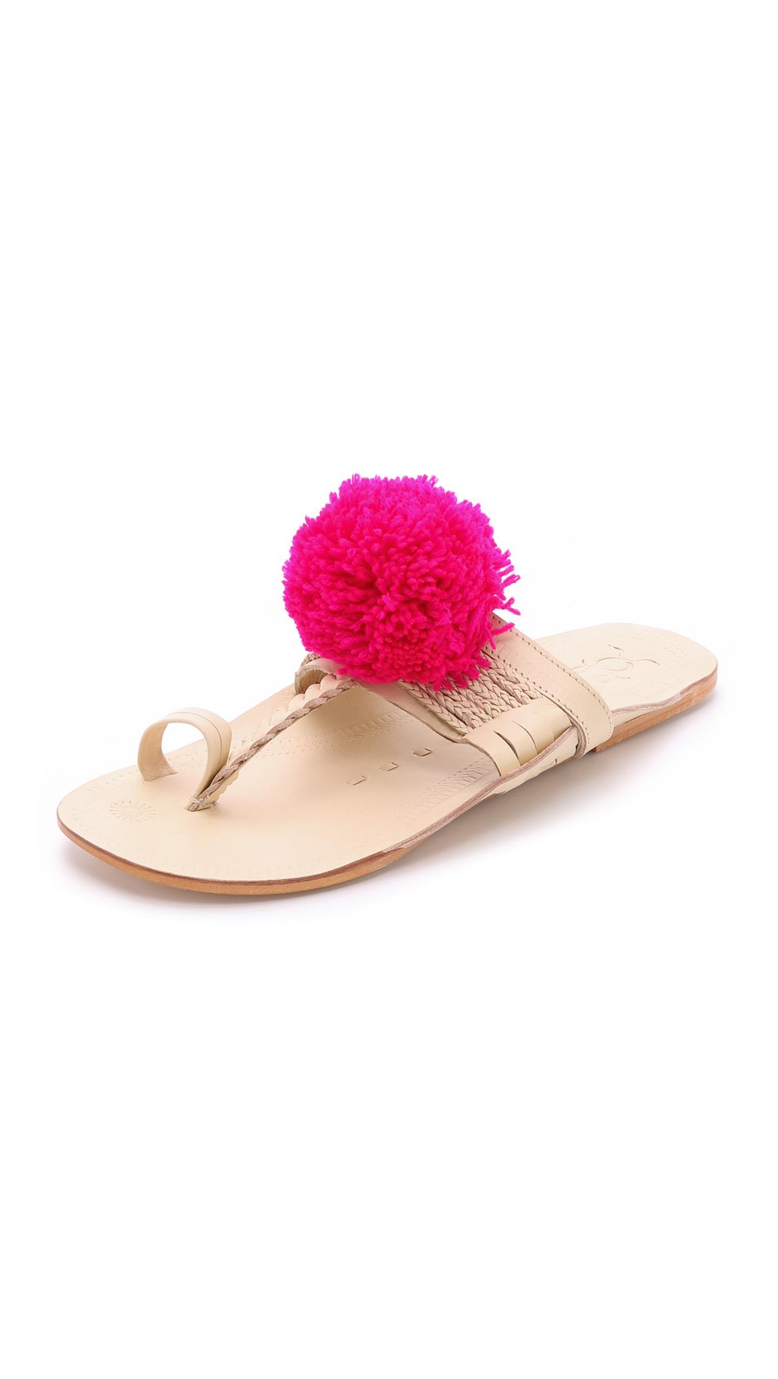 FIGUE Floral embellished slide sandals aAVYLlLYg