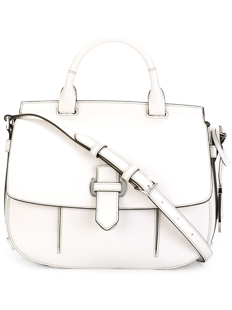 1e5b64f98e32 MICHAEL Michael Kors Large  romy  Crossbody Bag in White - Lyst