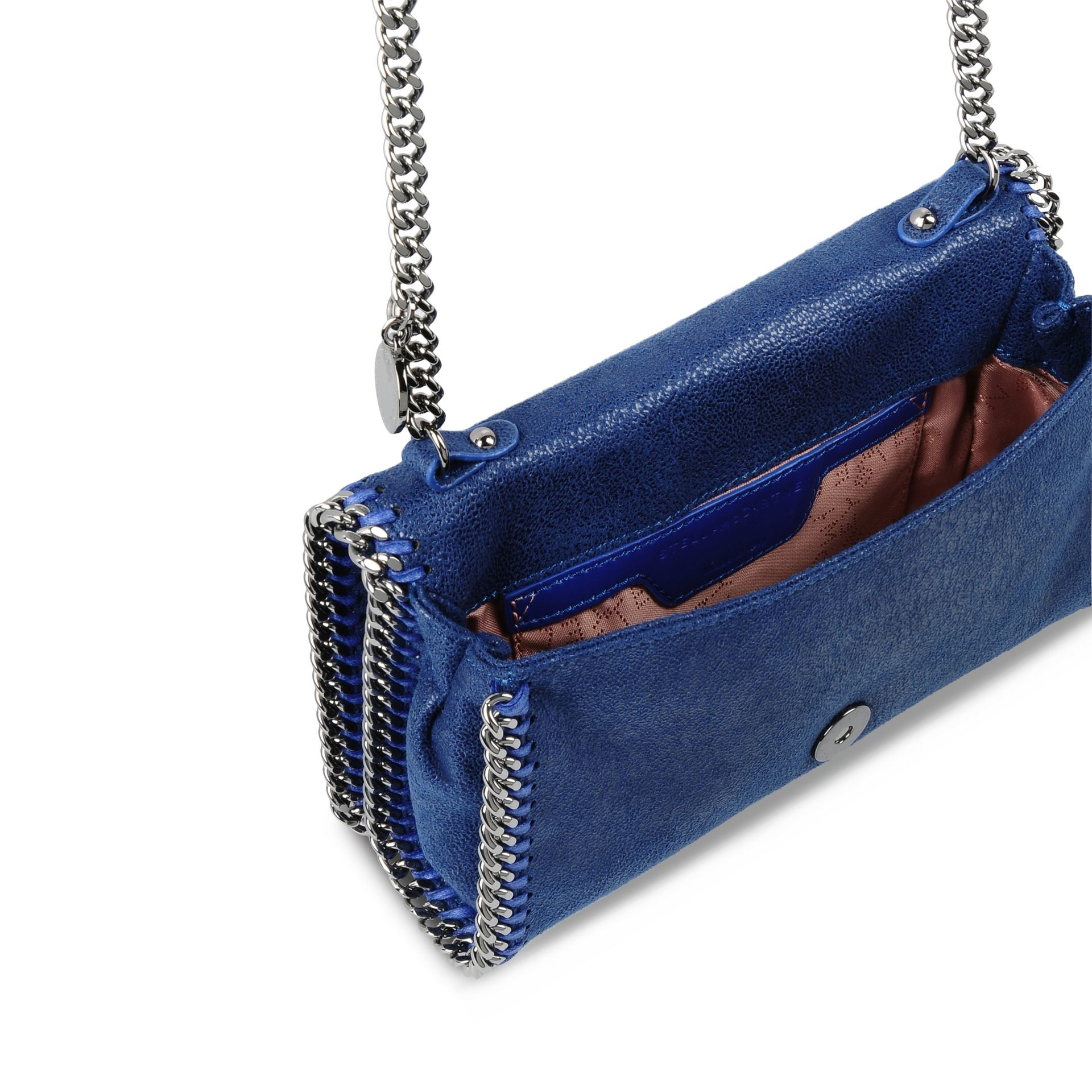 62a946793f3e Lyst - Stella McCartney Falabella Shaggy Deer Cross-Body Bag in Blue