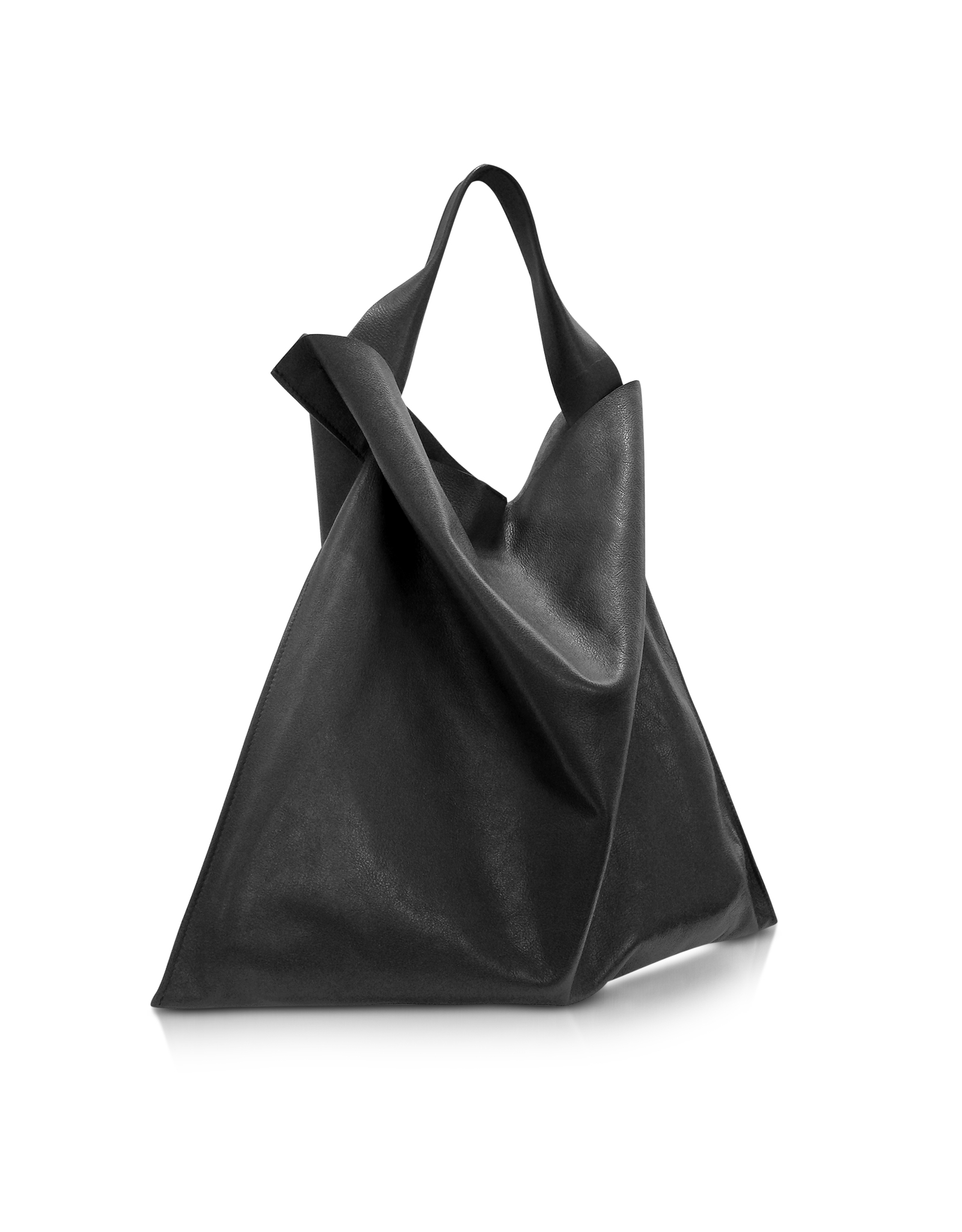 76483ebcc08a Lyst - Jil Sander Black Leather Xiao Bag in Black