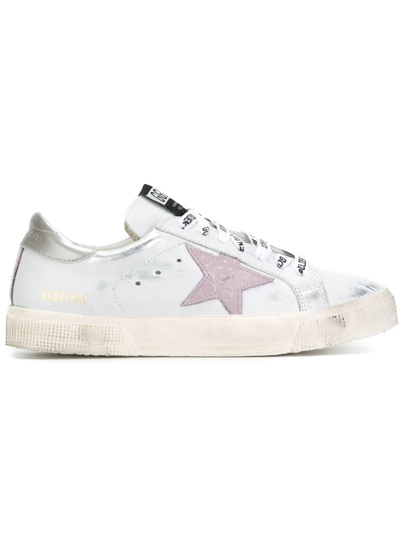 golden goose deluxe brand 39 may 39 sneakers in white lyst. Black Bedroom Furniture Sets. Home Design Ideas