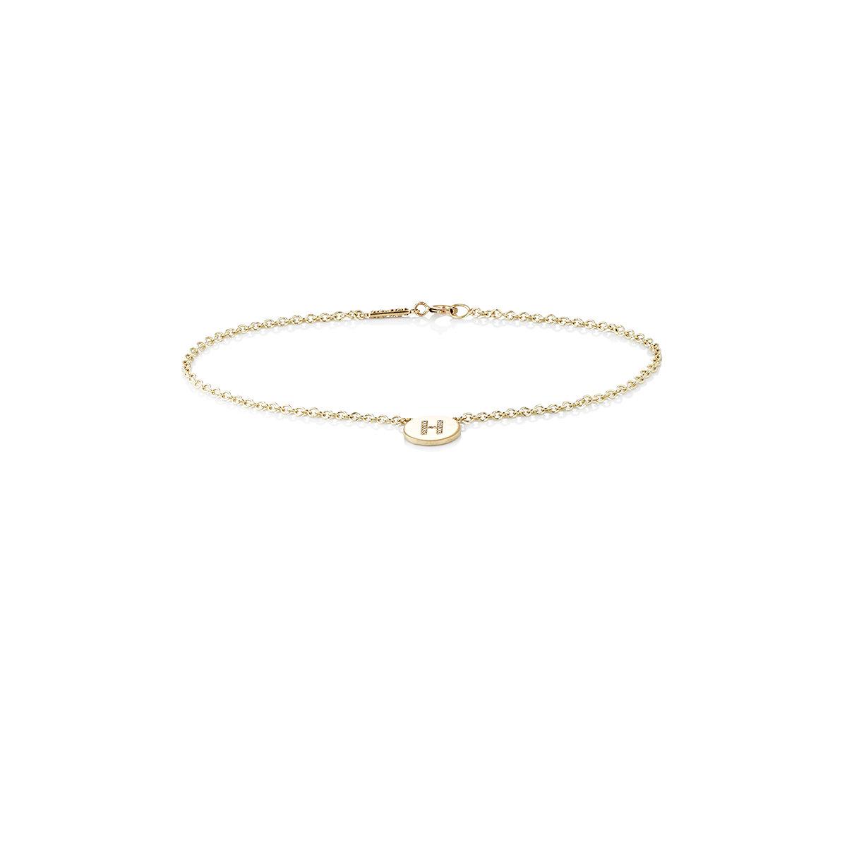 Des Femmes De Bracelet Initial De Disque E Jennifer Meyer iyYdb1