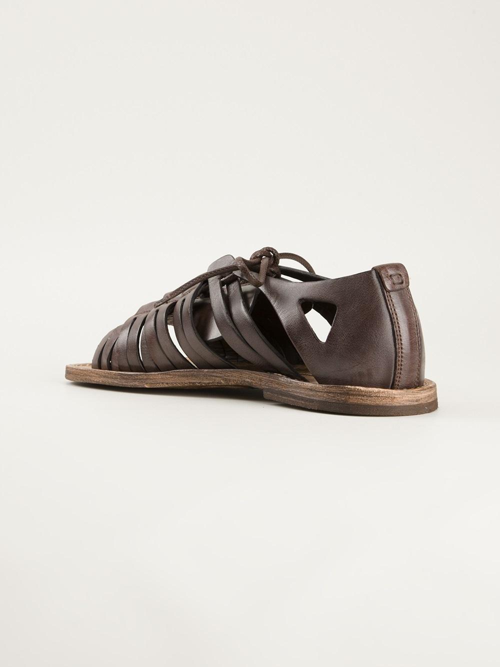 Dolce Amp Gabbana Gladiator Sandal In Brown For Men Lyst