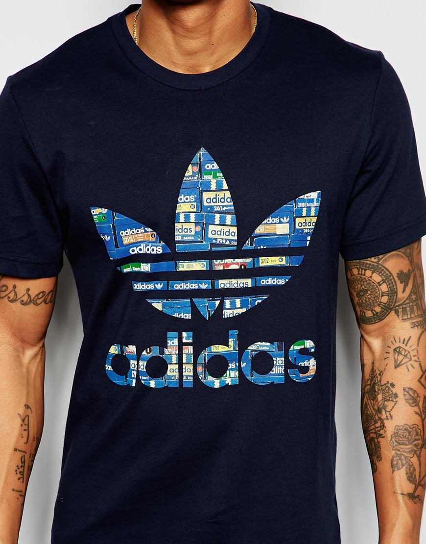 Adidas originals t shirt with shoebox trefoil aj6916 in for Original t shirt designs