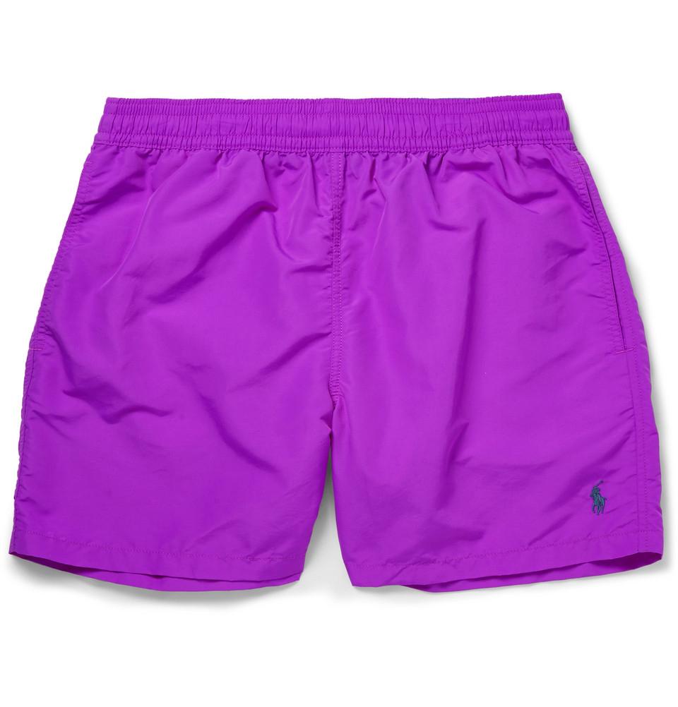 3654dfc3c ... discount lyst polo ralph lauren mid length swim shorts in purple for  men 9d7d3 0d62f