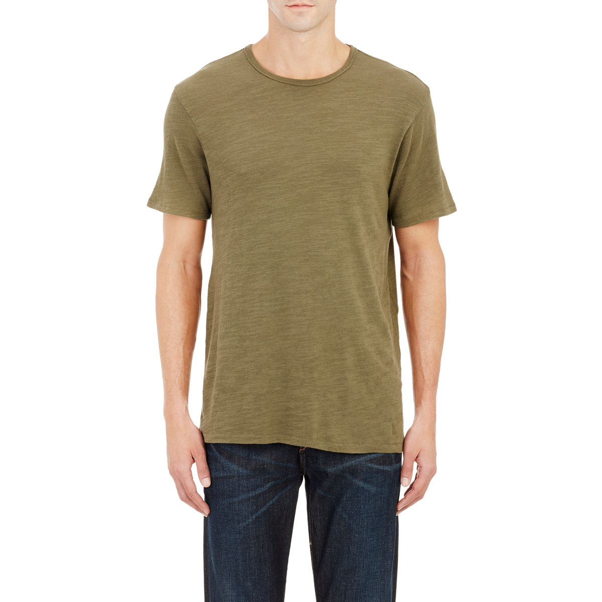 Rag bone men 39 s slub t shirt in green for men lyst for Rag bone shirt