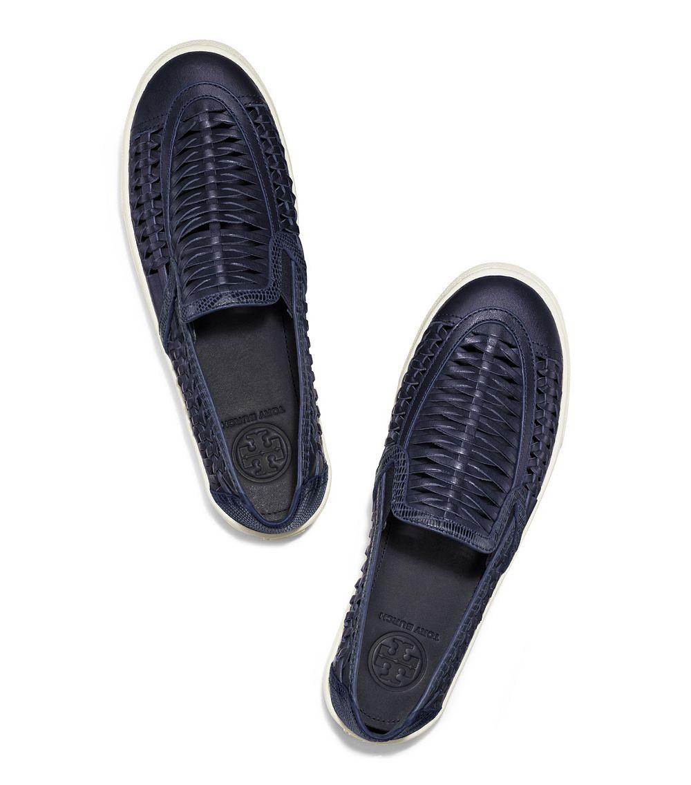 f20b92fb4fb5 Lyst - Tory Burch Huarache Slip-On Sneaker in Blue