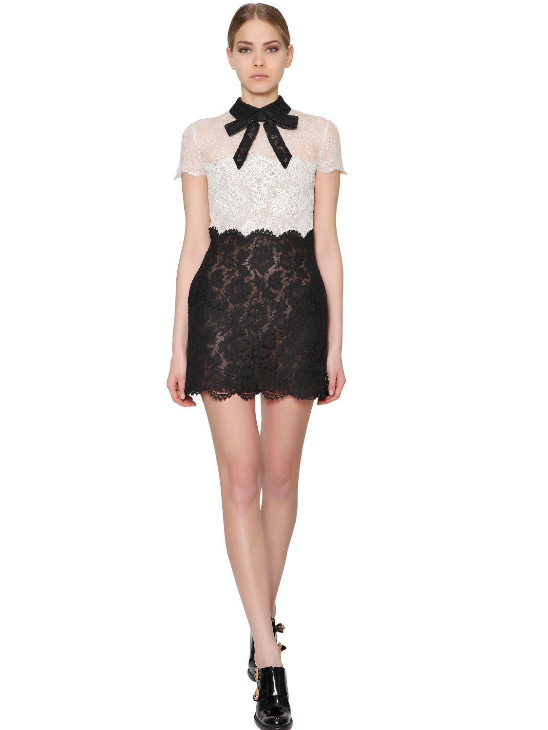 6ace538b68 Valentino Lace Dress Black And White - Gomes Weine AG