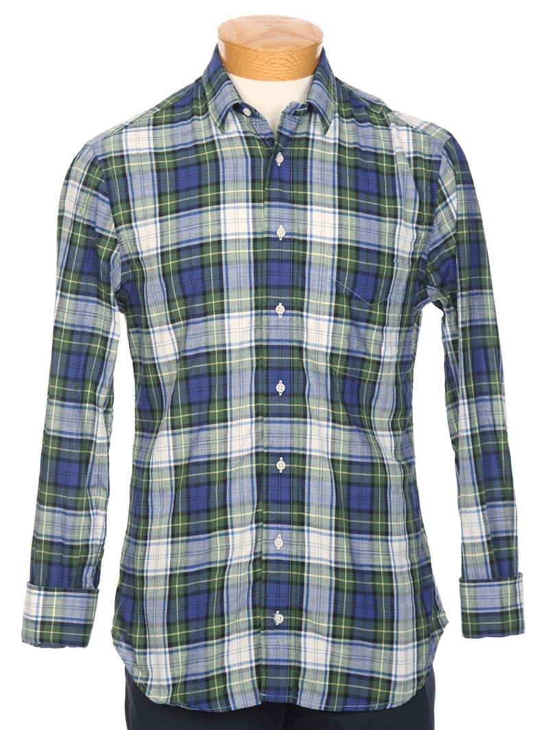 Gitman Brothers Vintage Exclsuive Madras Plaid Button Down