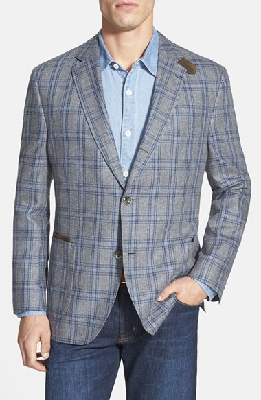 Kroon 'the Edge' Classic Fit Plaid Silk Sport Coat in Blue for Men