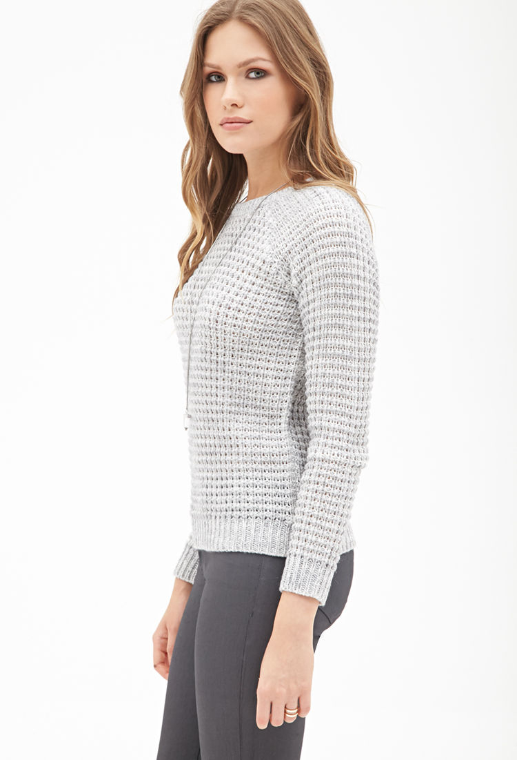 Forever 21 Contemporary Classic Waffle Knit Sweater in ...