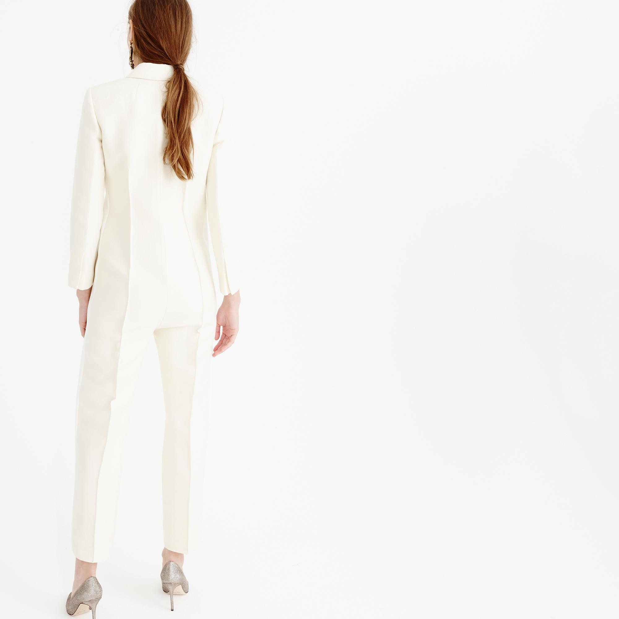 e53ccff3e6d Lyst - J.Crew Collection Tuxedo Jumpsuit in White