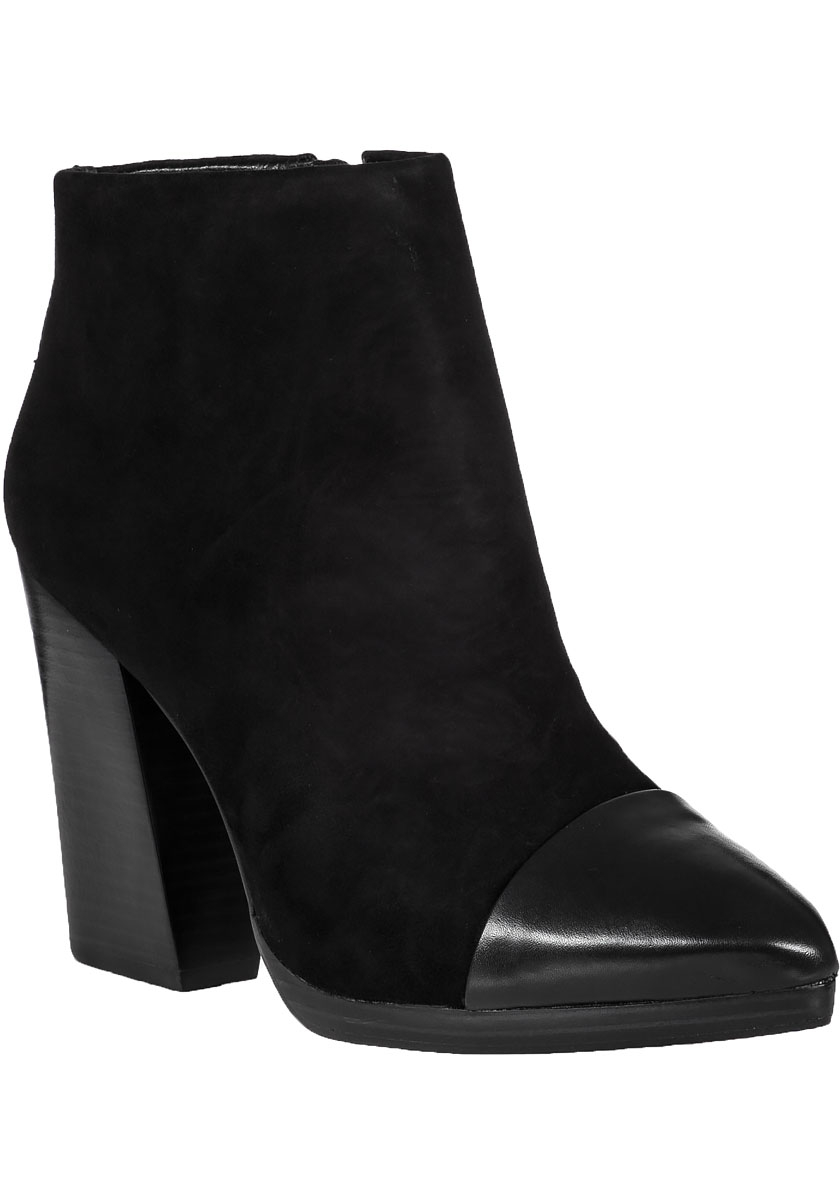 burch rivington ankle boot black suede in black lyst